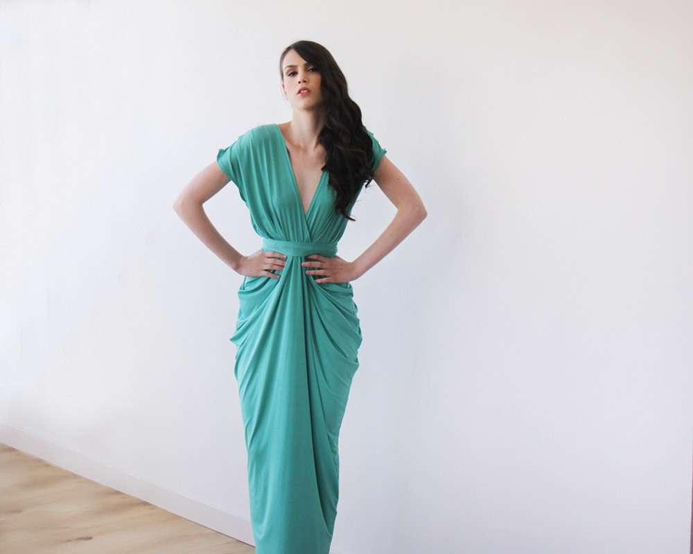 kelly green open back maxi bridesmaid dress blog dresses